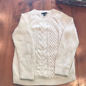 cream colored Lands End sweater